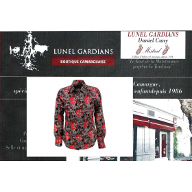 Chemise Femme Ispahan noir/rouge