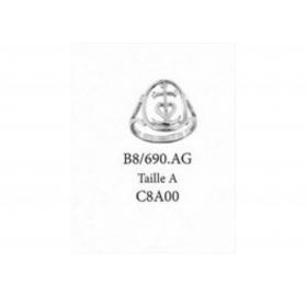 Bague Croix de Camargue MM sur cerclage ARGENT