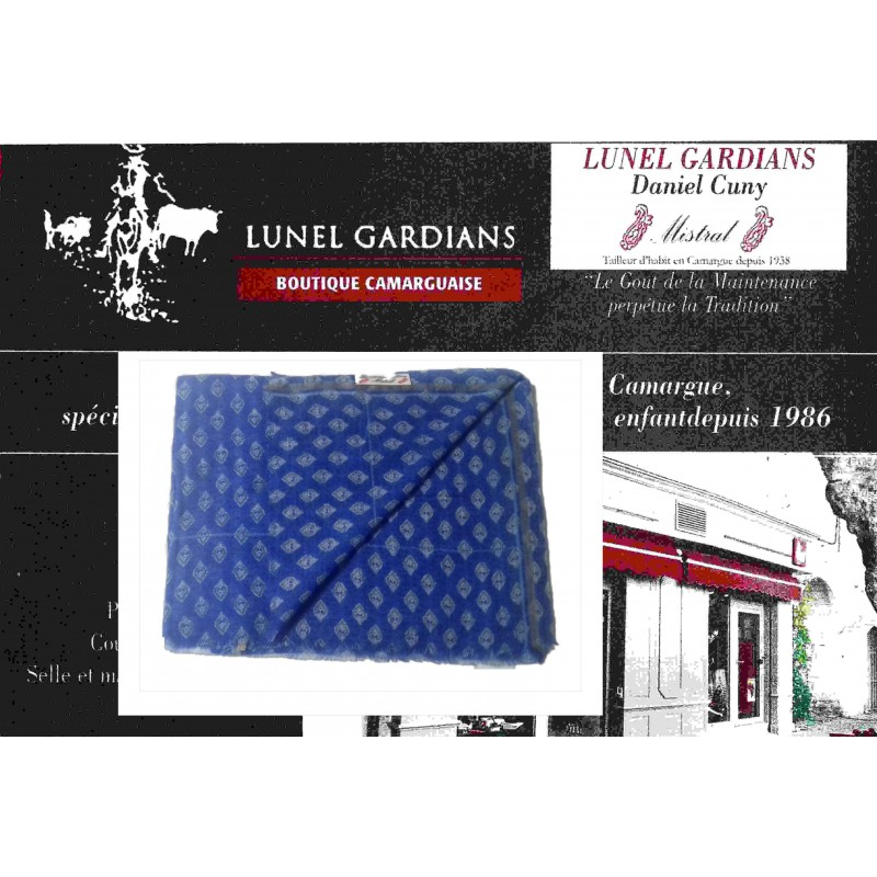 Foulard Laine CALISSON bleu royal