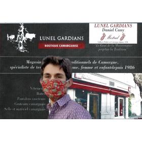 Masque Barriere Petit cachemire Rouge