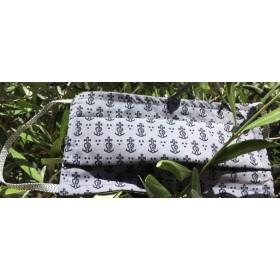 Masque Barriere Croix Camargue gris noir