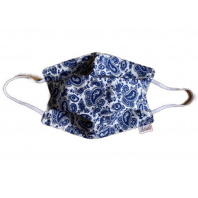 Masque Barriere Petit cachemire Blanc bleu