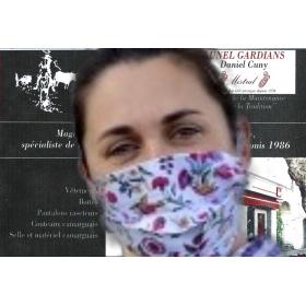 Masque Barriere Chaffarcani Blanc Rose