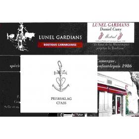 Pendentif Croix de Camargue Argent 183.AG