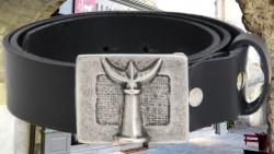ceinturons cuir 40 mm boucle trident-croix-