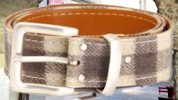 ceinture cuir et laine camargue-MISTRAL